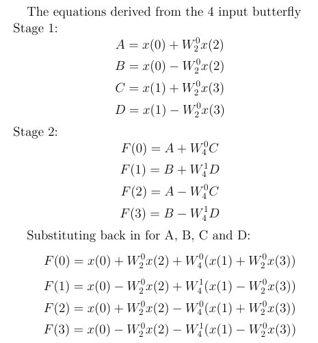 Butterfly Derived Equations, 4 input