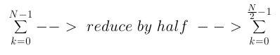 Reduce Summation by Half