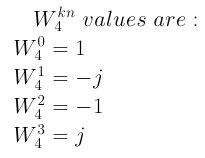 Twiddle Factor W_4
