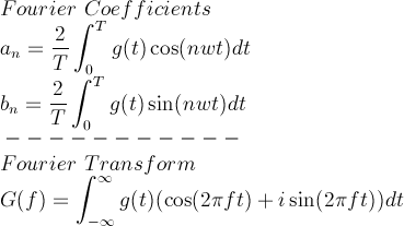 Fourier Coefficents and Fourier Transform